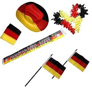 Sonia Originelli Fanpaket Deutschland Germany Fahne Flagge Schal Blumenkette Party GER-SET-1-XXL