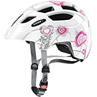 Uvex 414807 Kinder Fahrradhelm ,Mehrfarbig (heart white pink), 51-55 cm