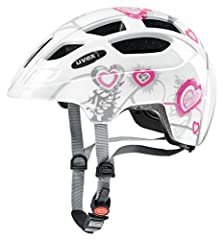 Idea Regalo - Uvex finale Junior casco da bicicletta, Unisex, finale junior, Heart White Pink, 51-55 cm