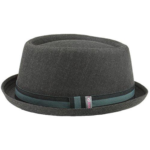 Hawkins - Sombrero Pork Pie - para hombre Gris gris 46d68254834