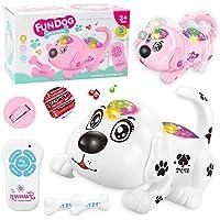 DUCKTOYS Control Remoto Rastreo Rollover Juguete Perro Control Remoto Electrónico Pet Dog Educación Temprana Puzzle Niños Juguetes,White