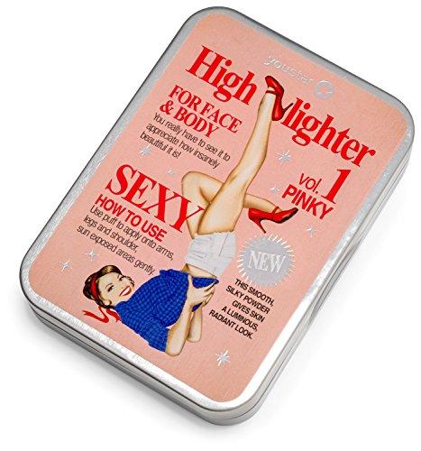 youstar - HIGHLIGHTER FOR FACE & BODY, elfenbeinfarbiger Puder Powder, Glow, Strobing