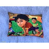 Divine Homes Cartoon Printed Velvet Baby Pillow - Shiva 12x18 inches
