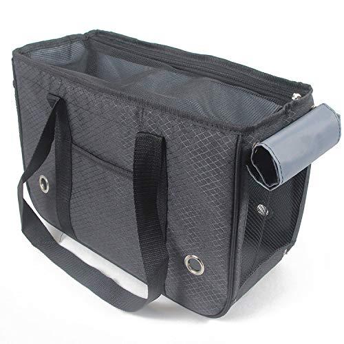 e Haustier Tasche Träger Hund aus tragbaren Reisetasche mit Vorhang Hund Tasche HandtascheKamelL-50 * 19 * 30cmempfohlen7,5 kg ()