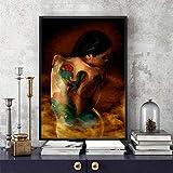 WJY Pittura a Olio di Arte della Parete Moderna Sexy Corpo Femminile Modello di Colore Pittura su Tela Decorazione della casa 50X75 cm Senza Cornice