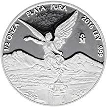 2016 México 1/2 oz .999 plata libertad ...