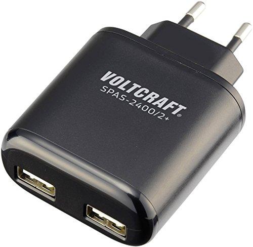 Chargeur USB VOLTCRAFT SPAS-2400/2+ Courant de Sortie (Max.) 4800 mA 2 x USB