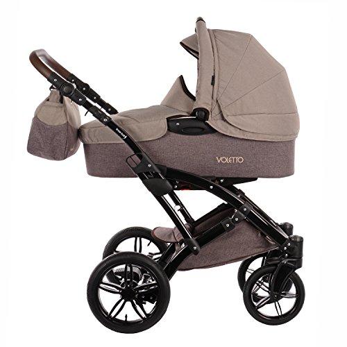 Knorr-Baby 3200-05 Kombikinderwagen Voletto Happy Colour, beige-braun -