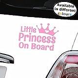 Mädchen Auto Aufkleber Kinder Little Princess On Board Kind Fenster Bumper Aufkleber–Das ideale Geschenk für jemanden Expecting a Little Girl.