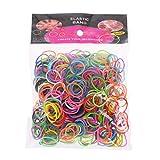 Bandas elásticas de goma Loom 600 piezas Rainbow Mega Recambio DIY pulseras bandas fiesta Favor Art manualidades para niñas 13
