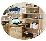 Computer desk with bookcase, desk desk desktop home desk corner desk with bookshelf package,Colore del legn,100 + 60cm
