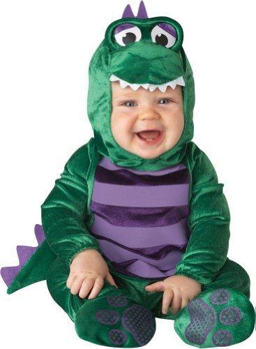 Baby's Dinky Dino Dinosaurier Kostüm, grün/lila, klein Größe: klein (6-12 Monate) Farbe: grün/lila, Modell: 16007n, Spielsachen & Spiel ()