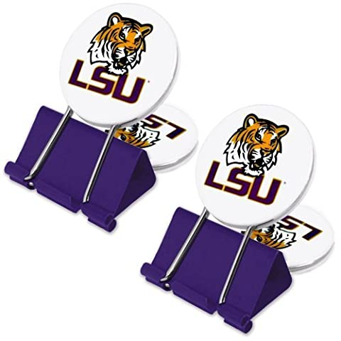 NCAA LSU Tigers MyFanClip Multipurpose Clips (Pack of 2) by My Fan Clip