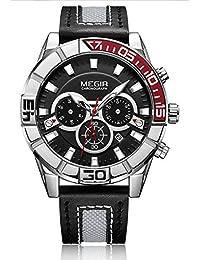 Megir Reloj Deportivo De Cuarzo De Moda Hombres Reloj Hora Relogio Masculino Reloj Creativo Cronógrafo 2066