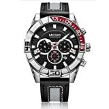Megir Reloj Deportivo De Cuarzo De Moda Hombres Reloj Hora Relogio Masculino Reloj Creativo Cronógrafo 2066 Relojes Militares del Ejército,Silver