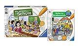 Ravensburger Kinder tiptoi Schul Set - Spiel Wir spielen Schule und Buch Sicher im Straßenverkehr - Wieso? Weshalb? Warum?