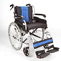 "Lightweight folding Aluminium narrow self propelled wheelchair 16"" seat width ECSP01-16"