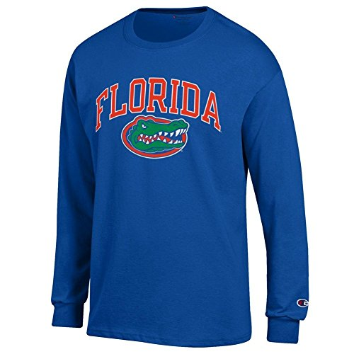 eLITe NCAA Herren Langarmshirt Team Color Arch, Herren, Team Color Arch Long Sleeve Shirt, Florida Gators Royal, XX-Large (Board Dart Cover)