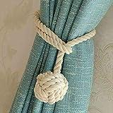 1 paire d'embrasses de rideau Do4u en corde tricotée pour...