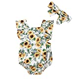 Wang-RX Neugeborene Baby Mädchen Floral Strampler Overall Overall Kleidung Outfit Sunsuit Baby Kleidung
