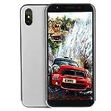 Fulltime E-Gadget 5.7 Zoll Doppel-HD Kamera Android 6.1 Smartphone 1G + 4G Viererkabel 3G Anruf- Doppel-SIM 2100Mah Batterie Handy (Silber)