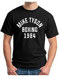 OM3 - MIKE TYSON 1984 BLACK - T-Shirt BOXING Heavyweight CHAMPION KO, S - 5XL