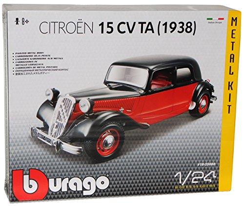 Bburago Citroen 15CV TA 1938 Rot Braun Schwarz Bausatz Kit 1/24 Modell Auto - Citroen Modell