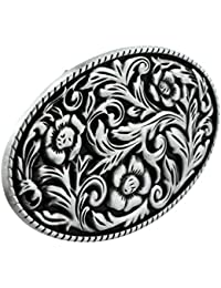 MagiDeal Rétro Boucle de Ceinture Classique Alliage Hawl American Western  Cowboy Cowgirl 88802fa3295