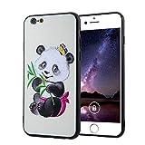 BONROY iPhone 6 Plus/6S Plus (5.5 Zoll) Hülle, [Ultra Fit] Passgenaues-PC Schale/Schlanke Handyhülle/Schutzhülle für iPhone 6 Plus/6S Plus (5.5 Zoll) Case Cover-(QLM-süßer Panda)