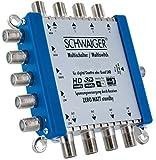 SCHWAIGER -5200- Multischalter 5 -> 8 / Verteilt 1 SAT-Signal auf 8 Teilnehmer / SAT-Verteiler / SAT-Splitter mit Netzteil / digital Multiswitch für Signal-Verteilung / in Kombination mit einem Quattro LNB / SAT-Anlage / Satelliten-Schüssel / HD-TV / 3D / DVB-T2 / Satelliten-Receiver