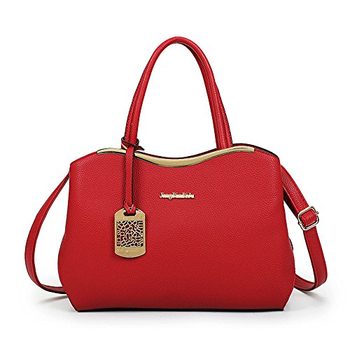 FavoMode, Borsa a mano donna rosso Red Handbag taglia unica Red Handbag