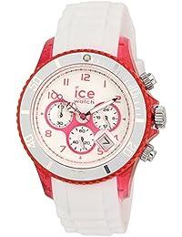 ICE-Watch - Montre Mixte - Quartz Analogique - Ice-Chrono Party - Cosmopolitan - Unisex - Cadran Blanc - Bracelet Silicone Blanc - CH.WPK.U.S.13