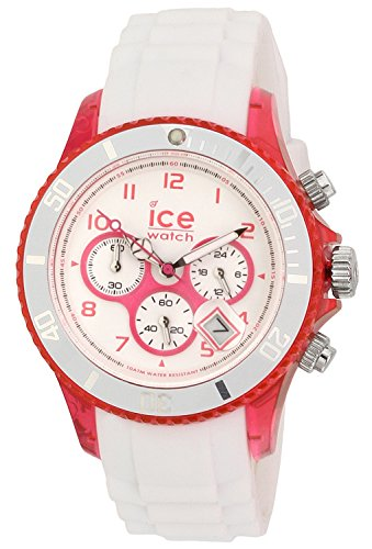 ICE-Watch-Chrono-Party-Unisex-Quartz-Watch-with-White-Dial-Time-Teacher-Display-and-White-Silicone-Bracelet-CHWPKUS13