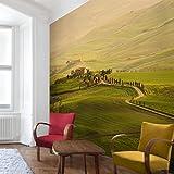 Vliestapete–Chianti Toskana–Wandbild quadratisch