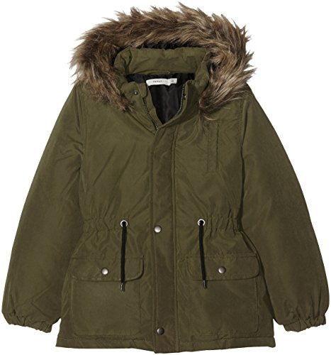 NAME IT NITMILLY PARKA JACKET NMT, Giacca Bambina, Verde (Ivy Green), 128