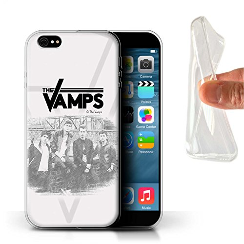 Offiziell The Vamps Hülle / Gel TPU Case für Apple iPhone 6+/Plus 5.5 / Pack 6pcs Muster / The Vamps Fotoshoot Kollektion Skizzieren