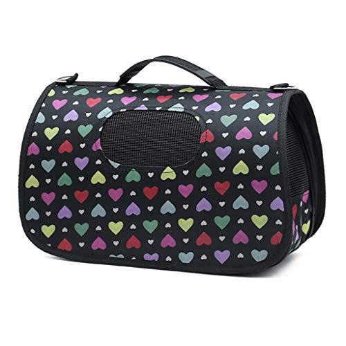MEIHAO Haustier-Tragetasche, weiche Faltbare tragbare atmungsaktive Haustier-Reise-Tote-Umhängetasche Handtasche für kleine Hunde und Katzen,C,M (36 X 24 Hundebox)