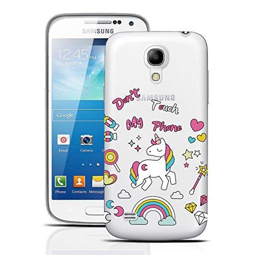dexnor Samsung Galaxy S4Mini funda silicona transparente claro caso ultra delgado suave TPU de goma parachoques Carcasa trasera para Samsung Galaxy S4Mini, unicornio, Samsung Galaxy S4 Mini