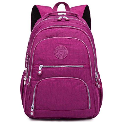 Frauen Rucksack Schultasche Für Teenager Mädchen Rucksäcke Große Weibliche Reise Laptop Bagpack Hohe Qualität Sac Deep purple 19 inches - Gucci Canvas-notebook