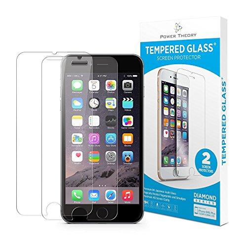 Power Theory iPhone 8 Panzerglasfolie (2 Stück) - Japanische 9H Panzerglas Folie, HD Displayschutzfolie/Panzerfolie, Tempered Glas Schutzglas, Handy Hartglas Schutzfolie, Screen Protector Glass