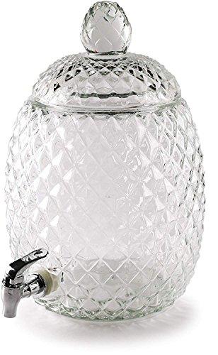 Circleware 92019 Sun Tea Jar Getränkespender und Glasdeckel Party Entertainment, Home Kitchen Glassware Wasserkrug für Saft, Bier, Kombucha und kalte Getränke, bleifrei, 7 l -