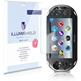 iLLumiShield - Sony Playstation Vita PCH-2000 (HD) Blue Light UV Filter Screen Protector Premium High Definition Clear Film / Reduces Eye Fatigue and Eye Strain - Anti- Fingerprint / Anti-Bubble / Anti-Bacterial Shield - Comes With Free LifeTime Replacement Warranty - [2-Pack] Retail Packaging