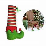DTWORLD Christmas coprisedia Babbo Natale pupazzo di neve decorazione sala da pranzo casa ornamento Leg Cover-4pcs