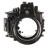 Market&YCY Sea Frogs 130 Feet/40 Meter Unterwasser Kamera Gehäuse Wasserdichtes Gehäuse, Für Canon EOS 760D (18-135mm)