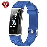 TOOGOO Fitness Tracker, fitness inseguitore di attivita' con cardiofrequenzimetro Orologio, IP68 impermeabile sonno Monitor Step Counter 14 Sport Modi, (schermo a colori, 2018 Ver) blu