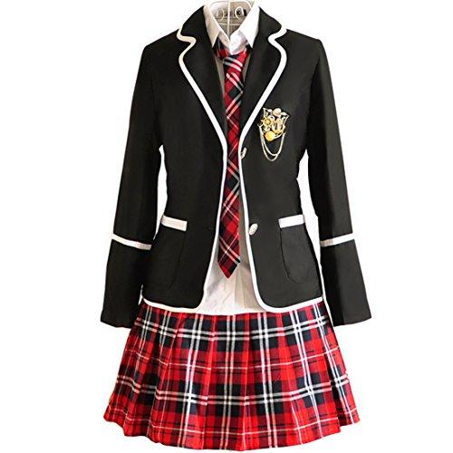 URSRUR Uniforme escolar japonés de niñas chicas traje de marinero de manga  larga traje de cosplay 7bd6da193285