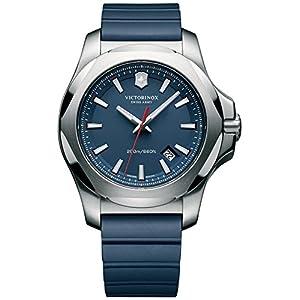 Victorinox Hombre I.N.O.X. – Reloj de Acero Inoxidable/Caucho de