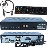 Echosat 20500 Digitaler Satelliten HD Receiver (HDTV, DVB-S /DVB-S2, HDMI, AV, 2X USB 2.0, Full HD 1080p, Digital Audio Out) [Vorprogrammiert für Astra, Hotbird und Türksat]