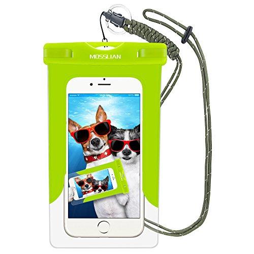 Wasserdichte Handyhülle: MOSSLIAN Wasserfeste Handy Hülle Tasche Smartphone bis 6 Zoll Deal für den Strand, Wassersport, Radfahren für iPhone 7/ SE/ 6s / Plus / 6 / 5s / 5 / 5c, Samsung Galaxy S7/ S7 edge/S6 / S6 edge / S5,HUAWEI Mate 9 /Mate 8/P8 /P9 (Grün)