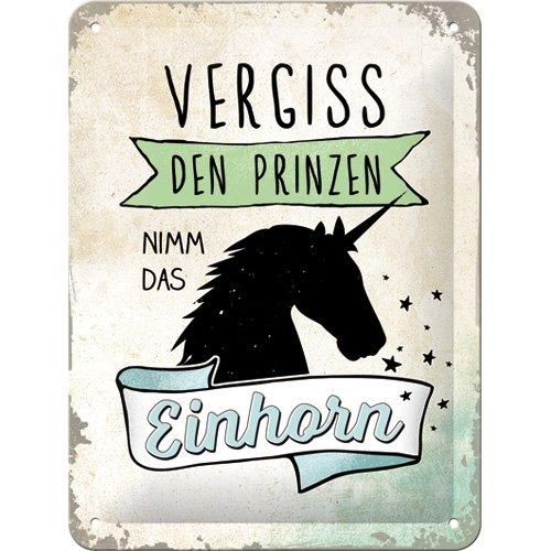 "Price comparison product image Nostalgic-Art 26205 Word Up ""Vergiss den Prinzen"" metal sign, dimensions 15 cm x 20 cm."